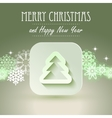 Christmas icon with paper effect vector image vector image