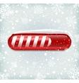 Christmas loading bar vector image vector image