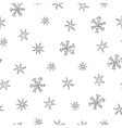 Christmas seamless pattern with snowflake vector image