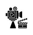 cinema industry black glyph icon vector image vector image