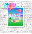Colorful picture on the wall vector image vector image