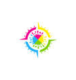 compass paint logo icon design vector image vector image