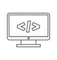computer monitor technology programming language vector image vector image