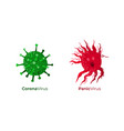 corona virus together with panic virus caused by vector image