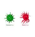 corona virus together with panic virus caused vector image