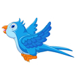 cute blue bird cartoon flying vector image vector image
