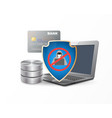 data protection shield vector image