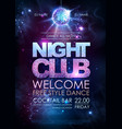 disco ball background disco night club poster on vector image vector image