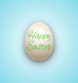 Easter Egg witnh Text Isolated on White vector image vector image