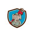 Elephant Plumber Monkey Wrench Crest Cartoon vector image vector image