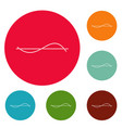 Equalizer meter icons circle set vector image