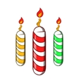 Festive candles icon cartoon style vector image vector image
