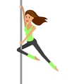 Fit woman stretching her leg to warm up - isolated vector image vector image