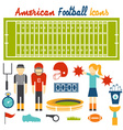flat design icons american football vector image