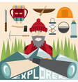 flat design of explorer with spyglasses and vector image vector image