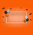 frame halloween with colorful balloons vector image vector image