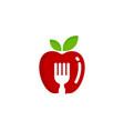 fruit food logo icon design vector image