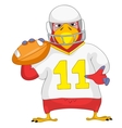 Funny Parrot Rugby vector image vector image
