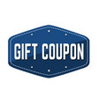 gift coupon label or sticker vector image vector image