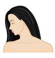Girl with black hair vector image