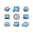 globe planet icons vector image vector image