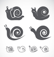 group of a snail vector image vector image
