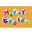 Happy easter decorative festive lettering vector image vector image