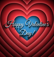 Happy Valentines Day retro background vector image vector image