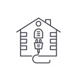 house electrical system line icon concept house vector image