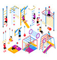 isometric playground elements collection vector image