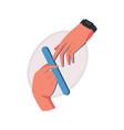 manicure flat vector image