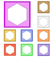 modern frame hexagon vector image
