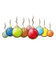multicolored christmas balls vector image vector image