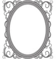 old black oval frame with a blank space for text vector image vector image