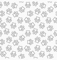 outine dog paw print seamless pattern vector image vector image