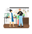 patient disabled man visiting doctor flat vector image vector image