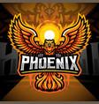 phoenix esport mascot logo design vector image vector image