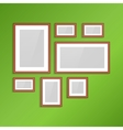 Photo frames on wall vintage picture vector image vector image