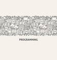 programming banner concept vector image vector image