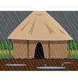 rainy village vector image vector image