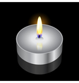 remembrance candle vector image vector image