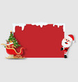 santa claus with sleigh with copy space vector image vector image