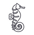 sea horse line icon sign on vector image vector image