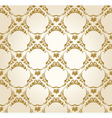 seamless wallpaper background vintage gold vector image vector image