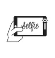 selfie photo vector image vector image