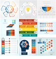 Set 9 templates Infographic 6 positions vector image