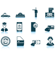 Set of Taxi icons vector image