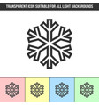 simple outline transparent snowflake icon on vector image vector image