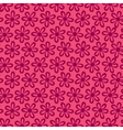 small flower pattern pink background vector image vector image
