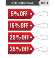 Stitched tags Set 3 vector image